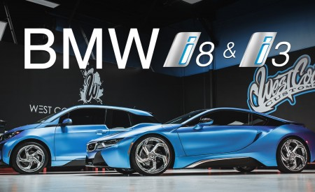 Twin Matte BMW i8 and i3 on Lexani Wheels