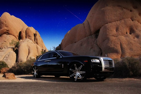 2012 Rolls Royce Ghost with chrome and black Johnson IIs.