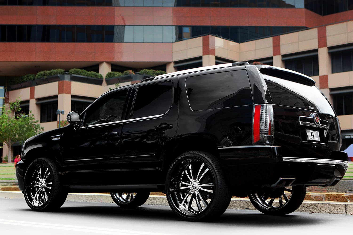 Customized Cadillac Escalade with 26
