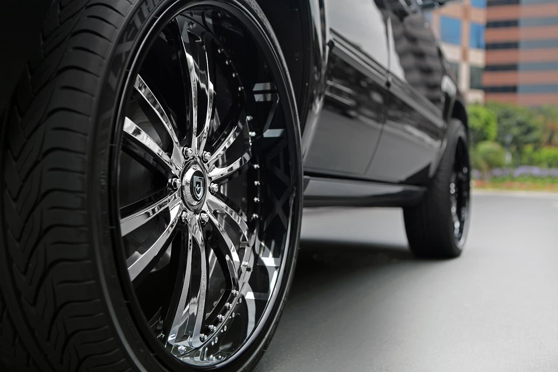 Customized Cadillac Escalade with 26
