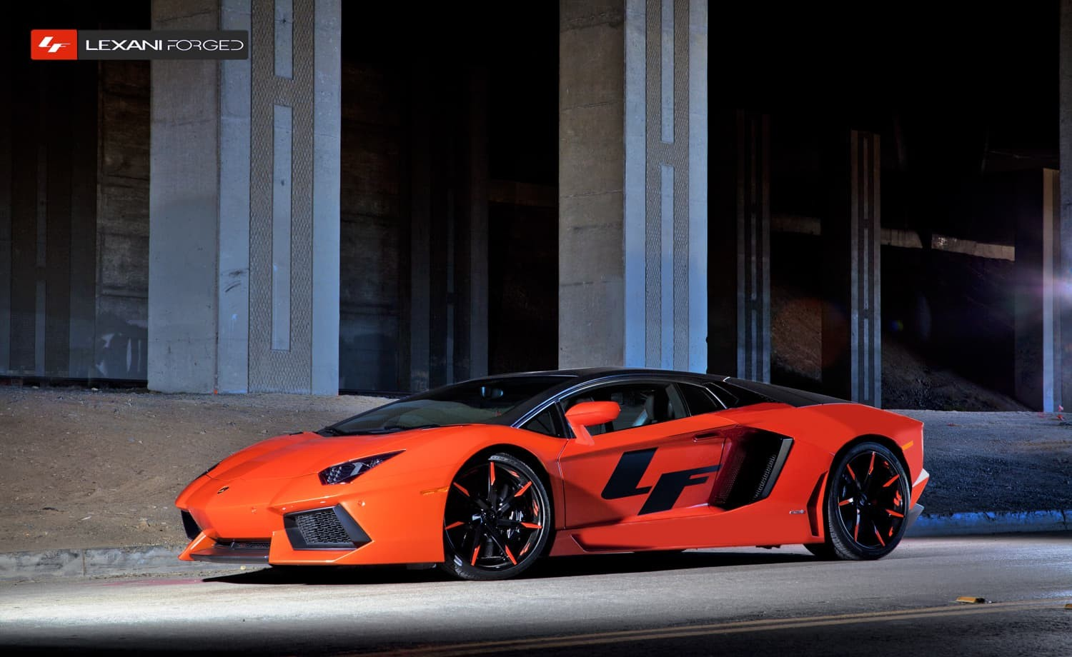 The 2013 Lamborghini Aventador with color-matched LZ-109.