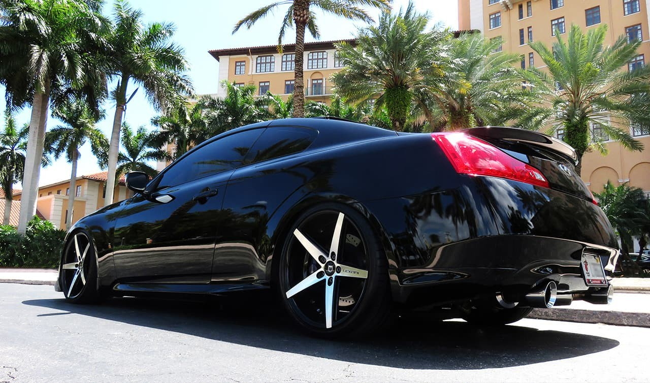 Machined and Black R-Four on 2014 Infiniti G37