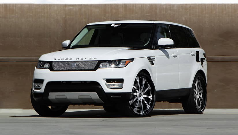 The 2014 Range Rover Sport with brushed/black LF-709 rims.