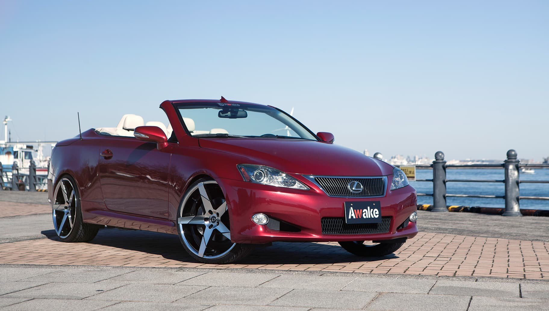 Machined and Black Invictus-Z on the Lexus IS350.