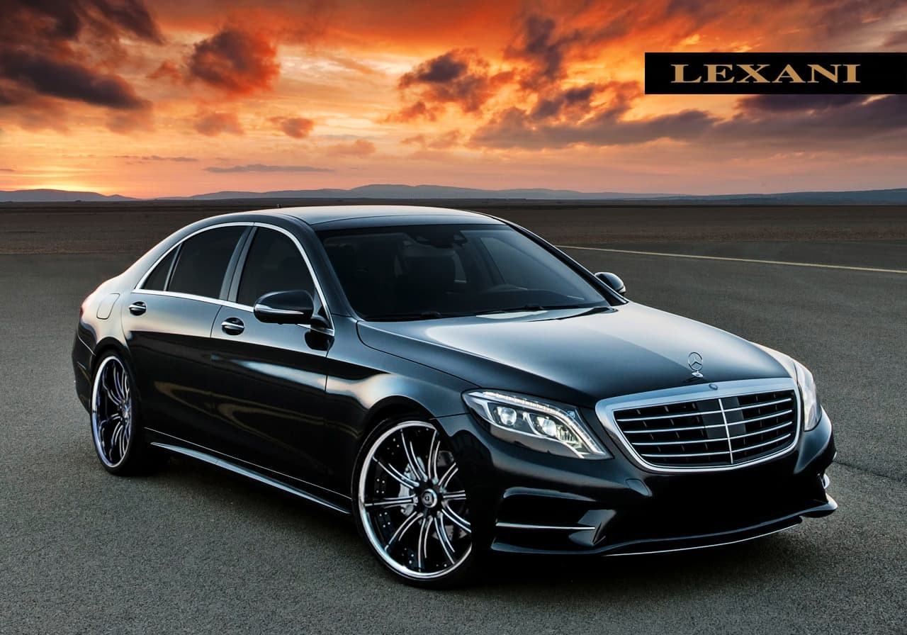 The 2014 Mercedes Benz S Class with chrome and black LS-707.