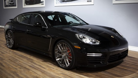 Tinted Brushed M-002 on the Porsche Panamera.