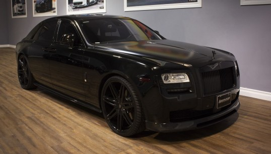 All black Johnson II on the Rolls Royce Ghost.