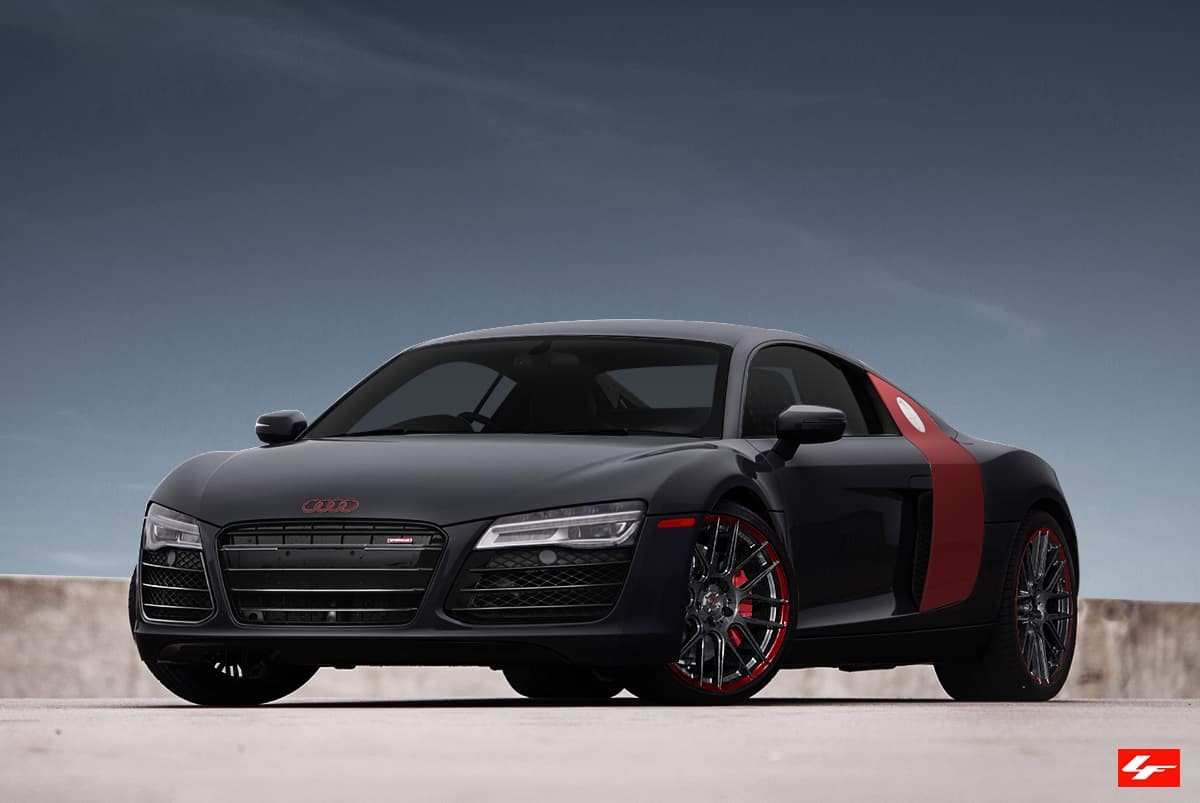 2015 Audi R8 on M-002 Custom Finish