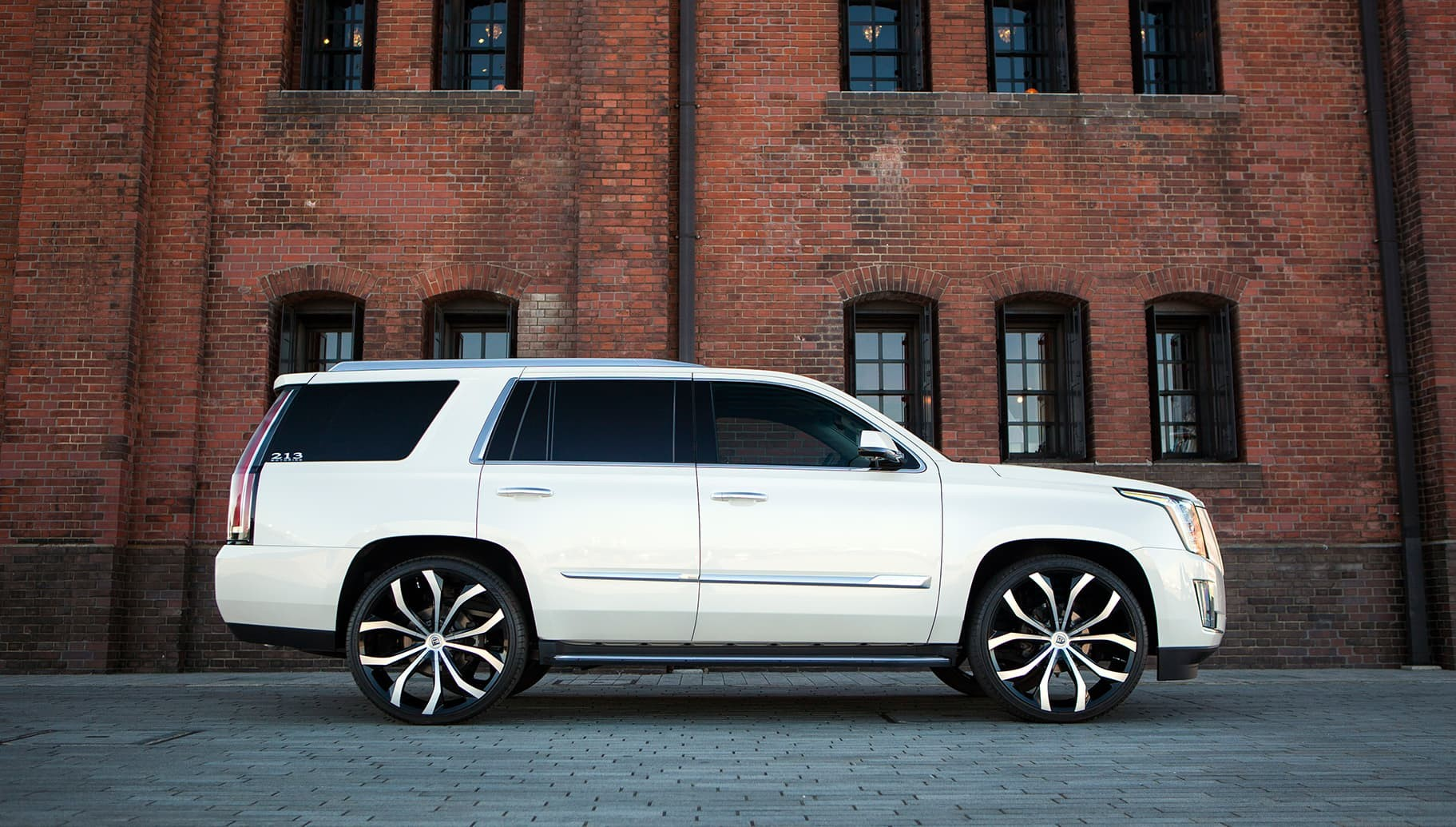 Machined and Black Lust on the Cadillac Escalade.