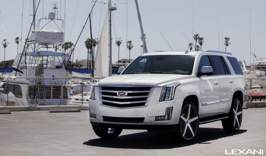 Machined and Black R-Four on 2015 Cadillac Escalade