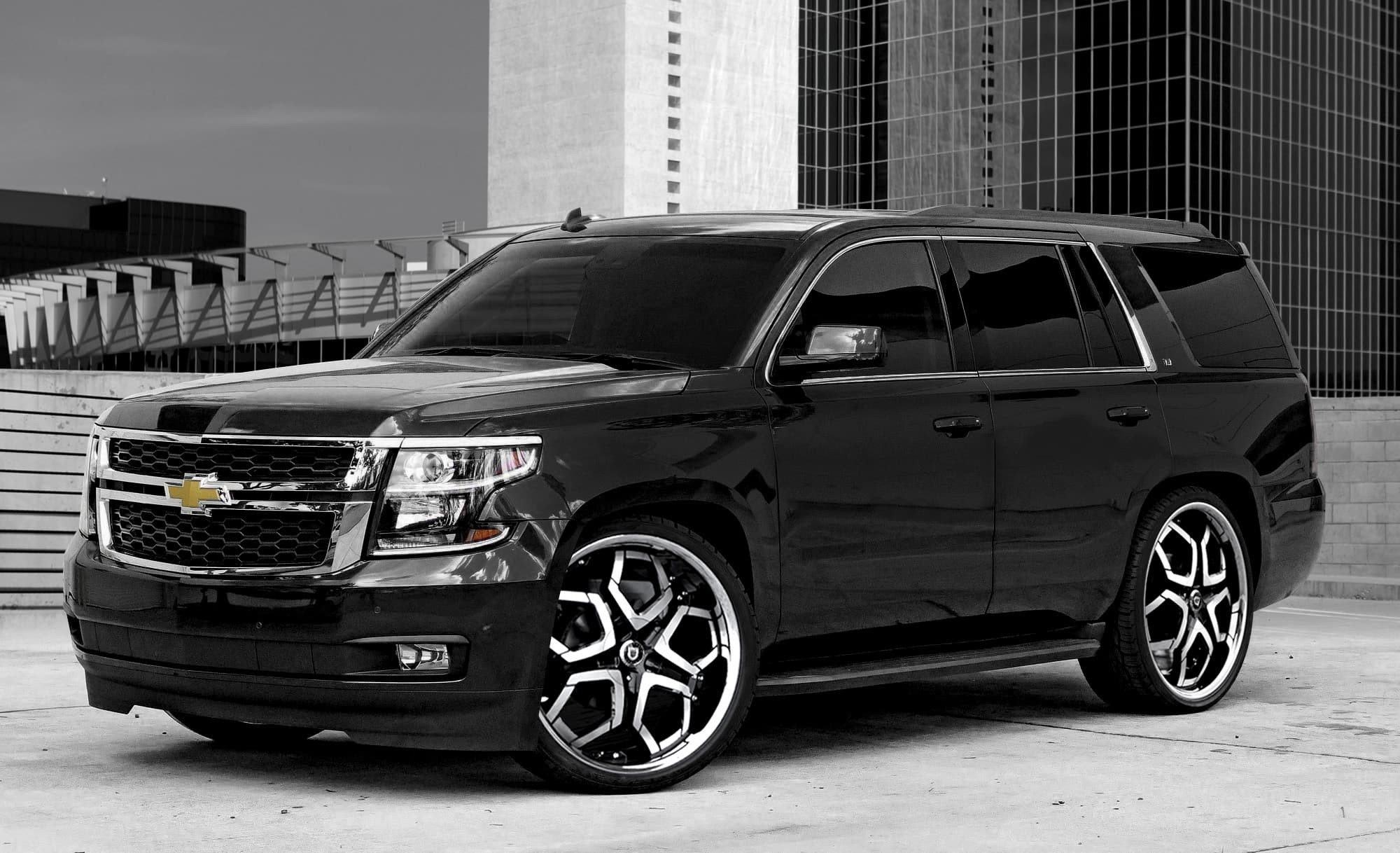 Machined and Black Hydra on the Chevrolet Tahoe.