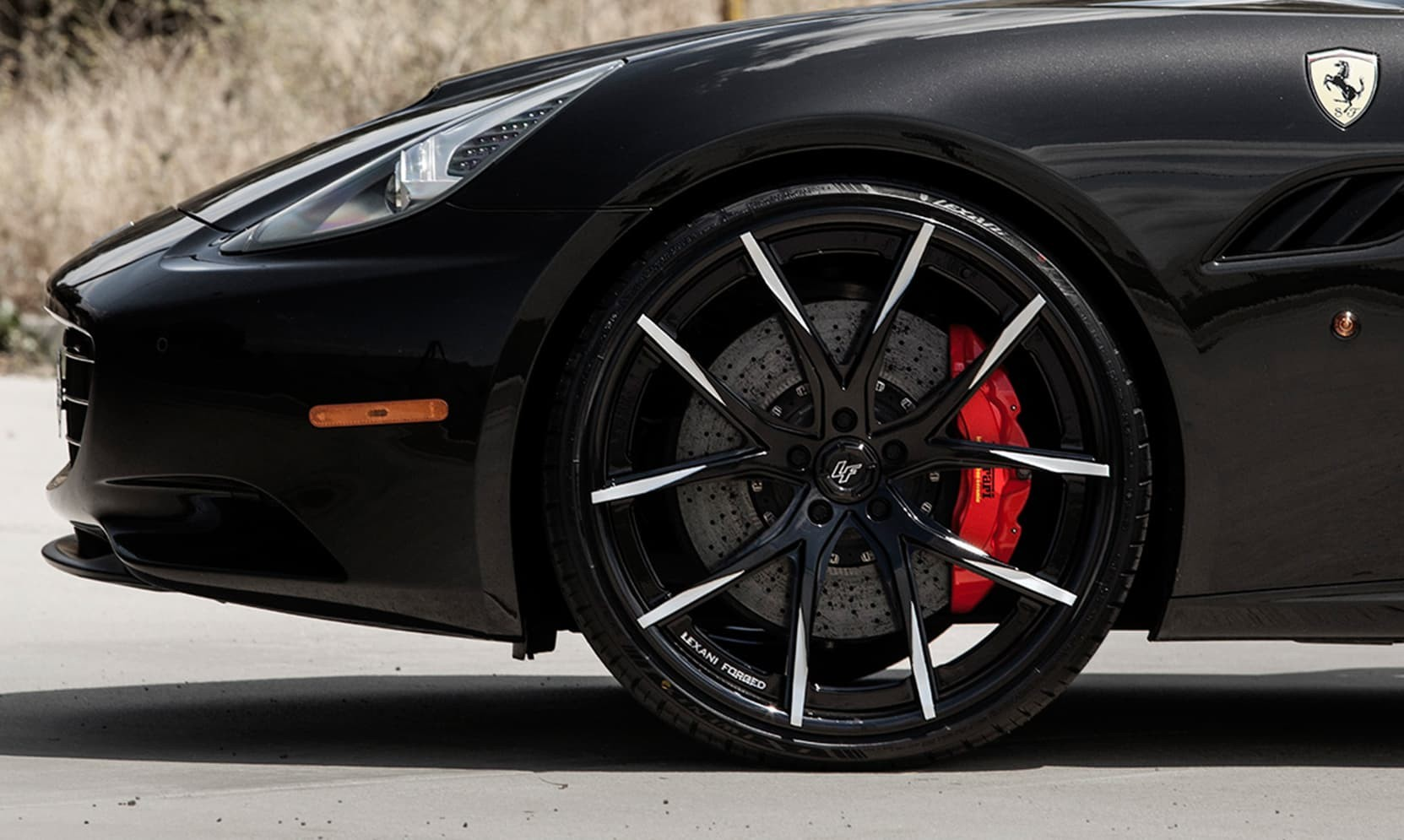 Ferrari California on LZ-102 Gloss Black with Brushed Tips