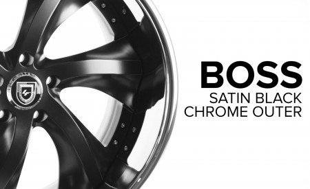 Boss - LF Classic Series - Satin Black w/ Chrome Outer