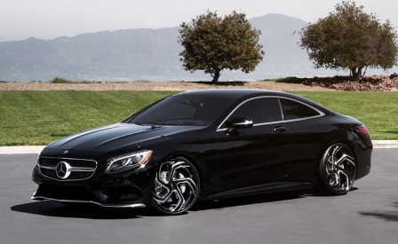 "Mercedes S Coupe on 22"" LZ-761"