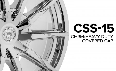 CSS-15 Heavy Duty Covered Cap - Chrome Finish