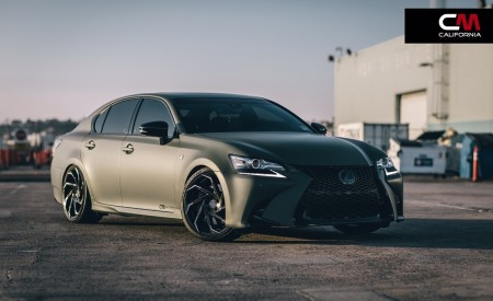 "Matte Lexus GS-350 on 20"" Cyclone"