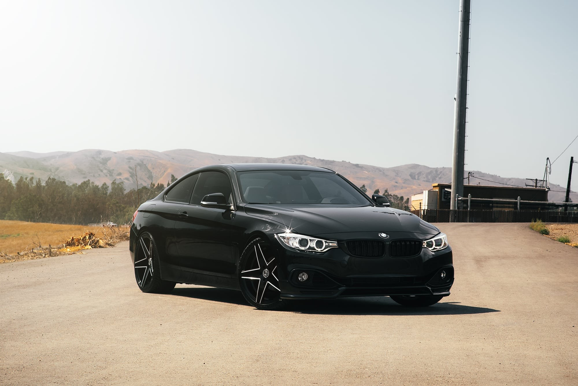Black BMW 4 Series on Lexani Mainz wheels