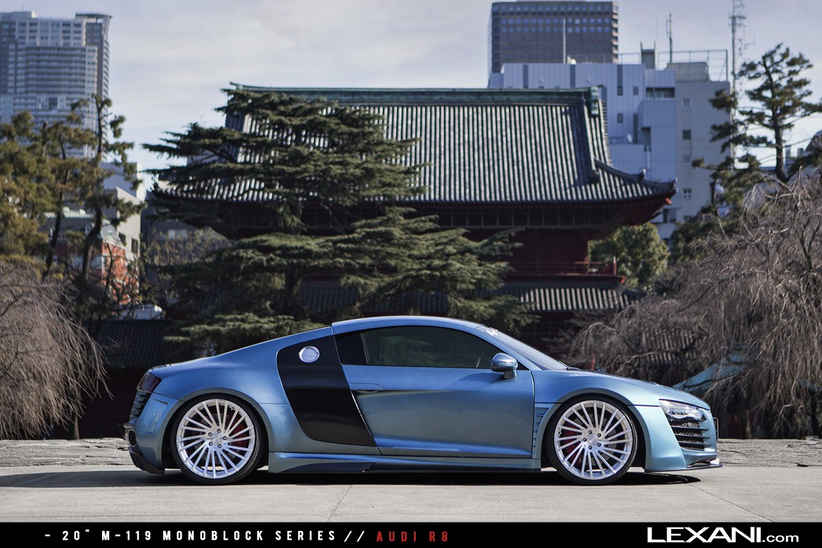 Audi R8 on M-119 Brushed Finish