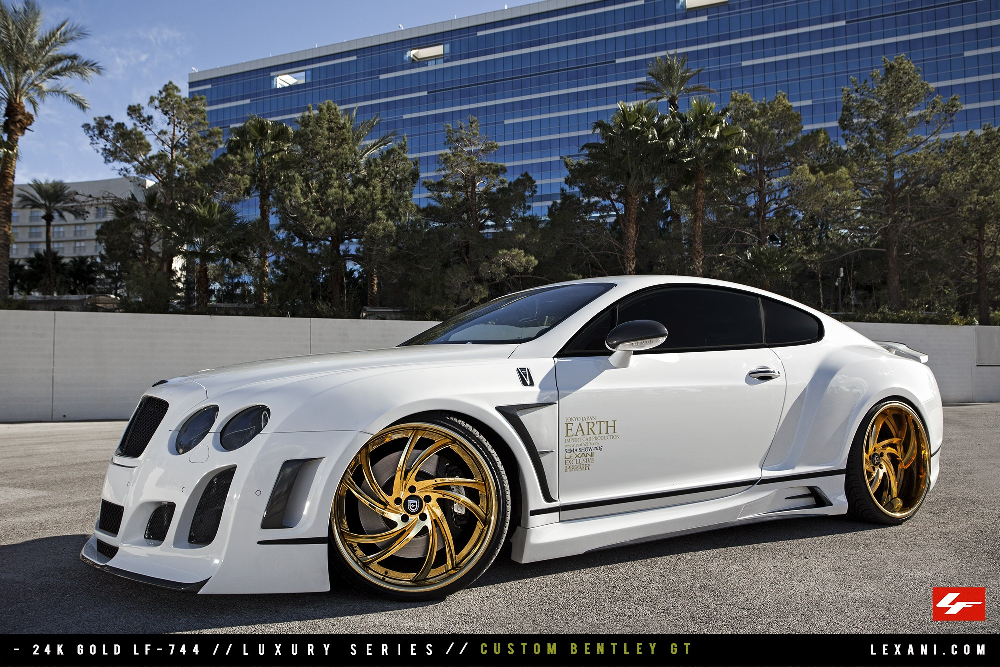 Custom Bentley GT on 24K Gold LF-744