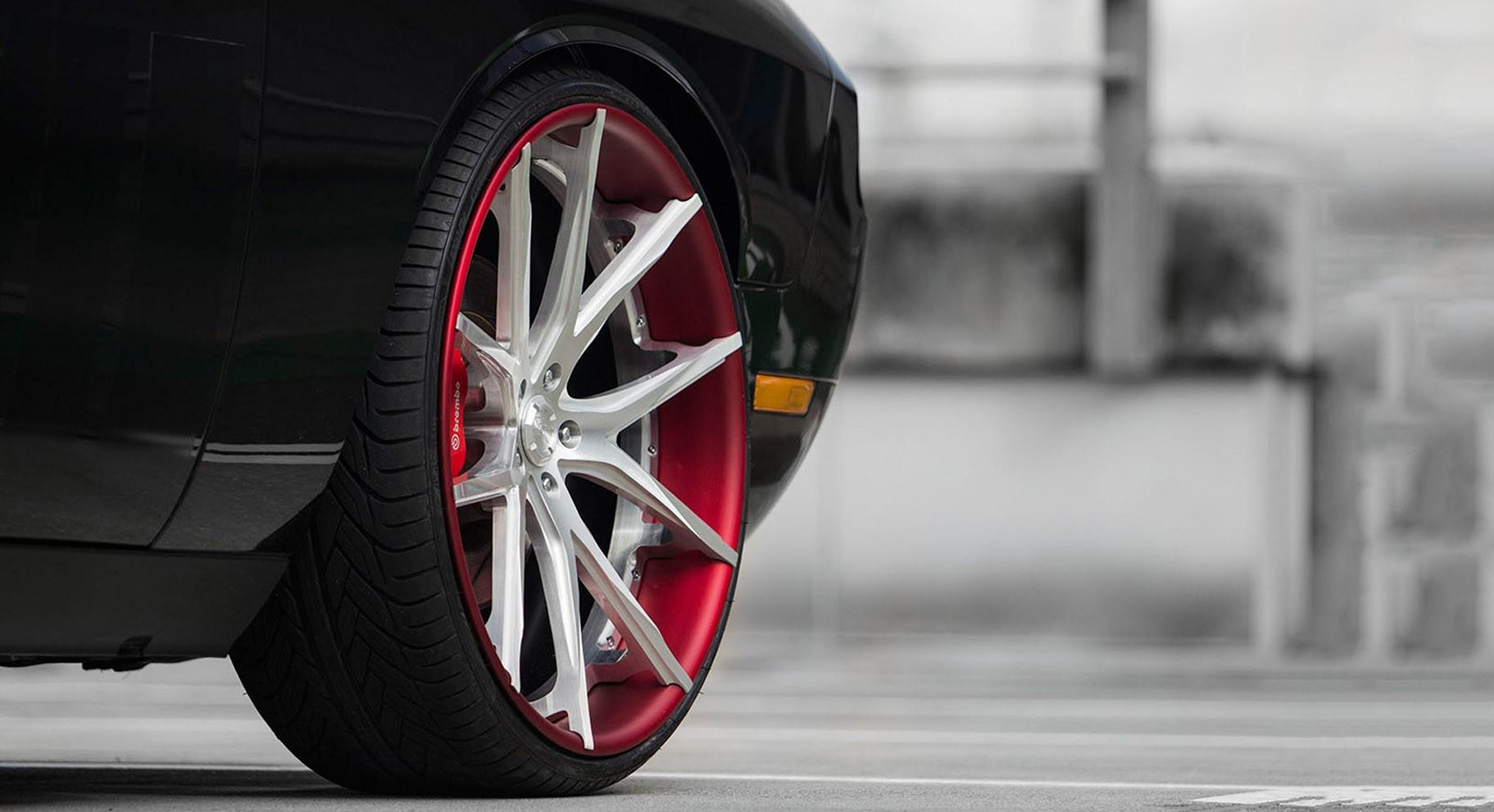 Dodge Challenger on brushed LZ-102 wheels.
