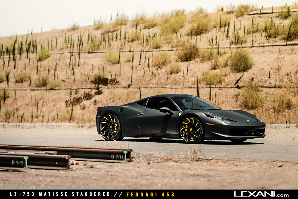 Matte Black Ferrari 458 on LZ-753