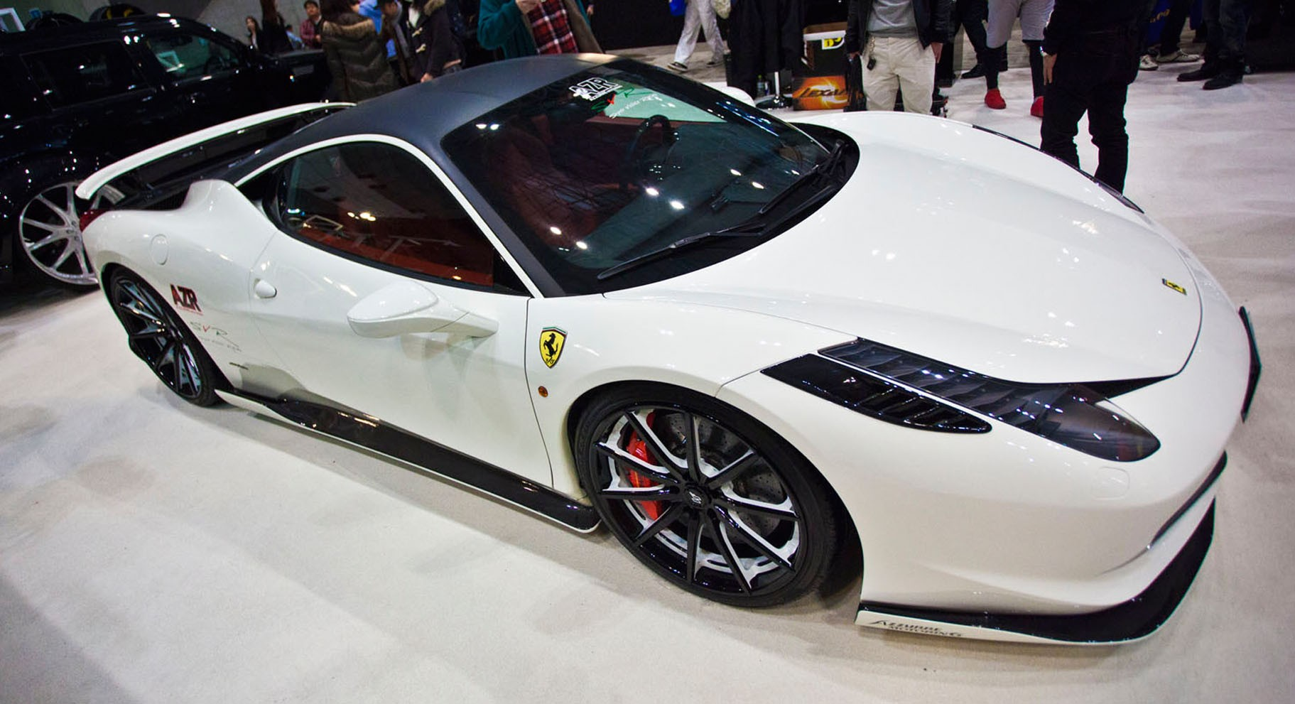 Ferrari 458 with color matching LZ-108.