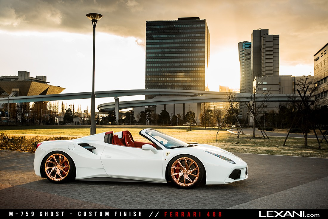 Ferrari 488 on M-759 Custom Finish