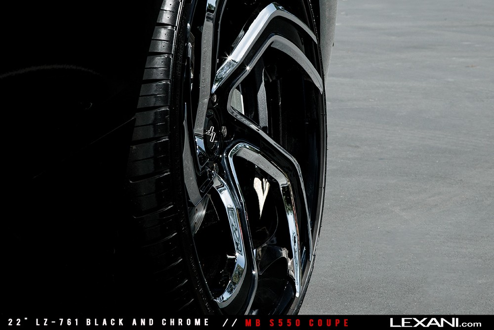 Mercedes S550 Coupe on LZ-761 Black and Chrome