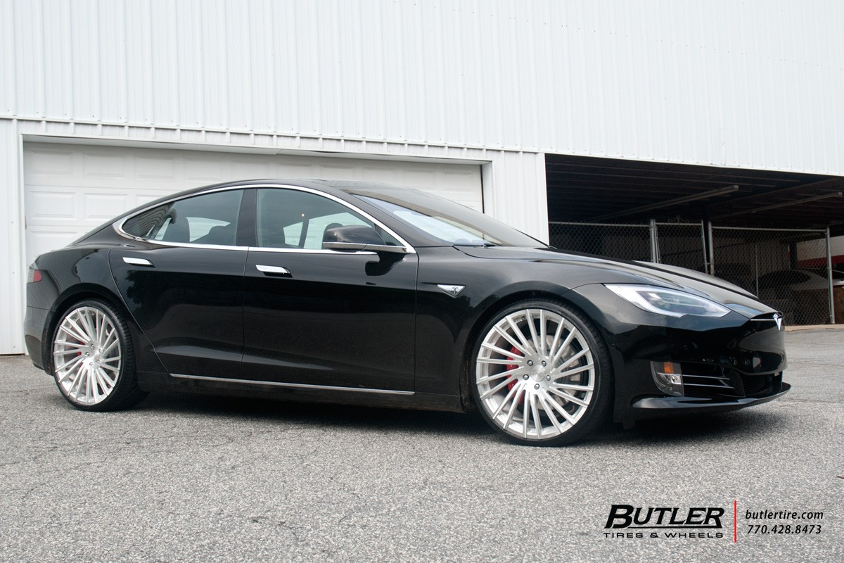 Tesla Type S on M-119 Brushed FInish