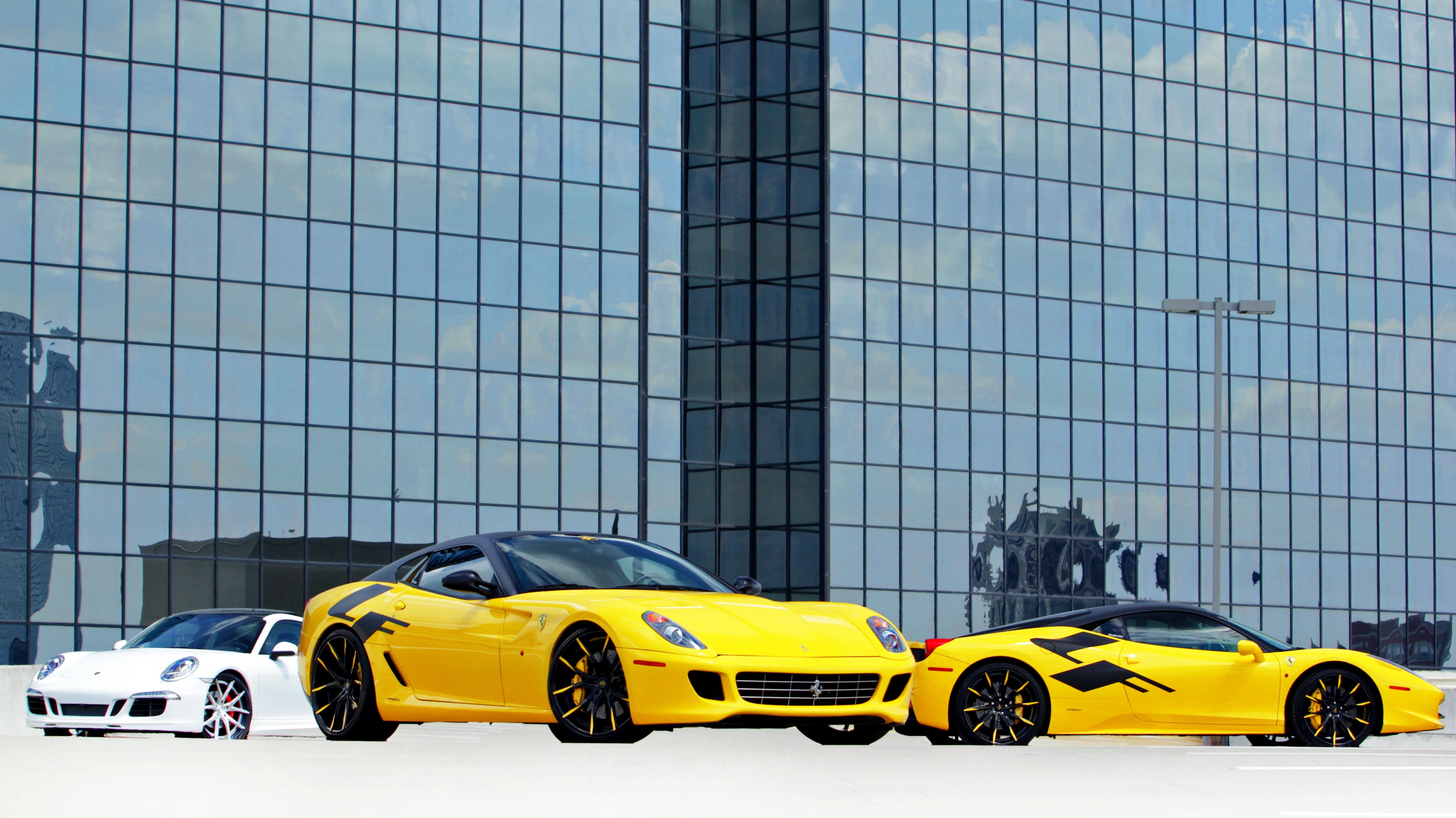 Atlanta Tour|  2013 Porsche 911 with LZ-102 2013 Ferrari 599 with LZ-102  2013 Ferrari 599 GTB Fiorano And the 2013 Ferrari 458 Italia