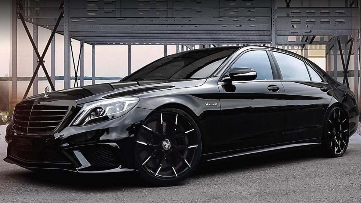 Mercedes S Class on Stuttgart