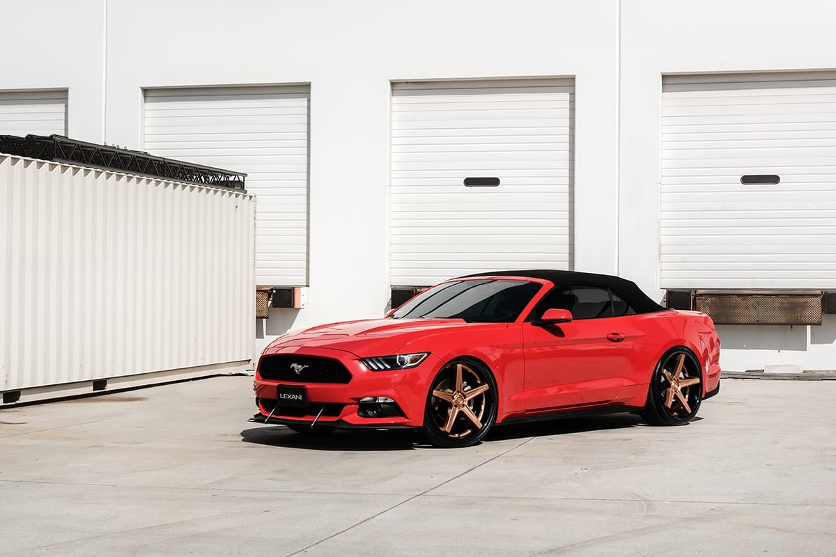 Ford Mustang on Lexani Savage wheels
