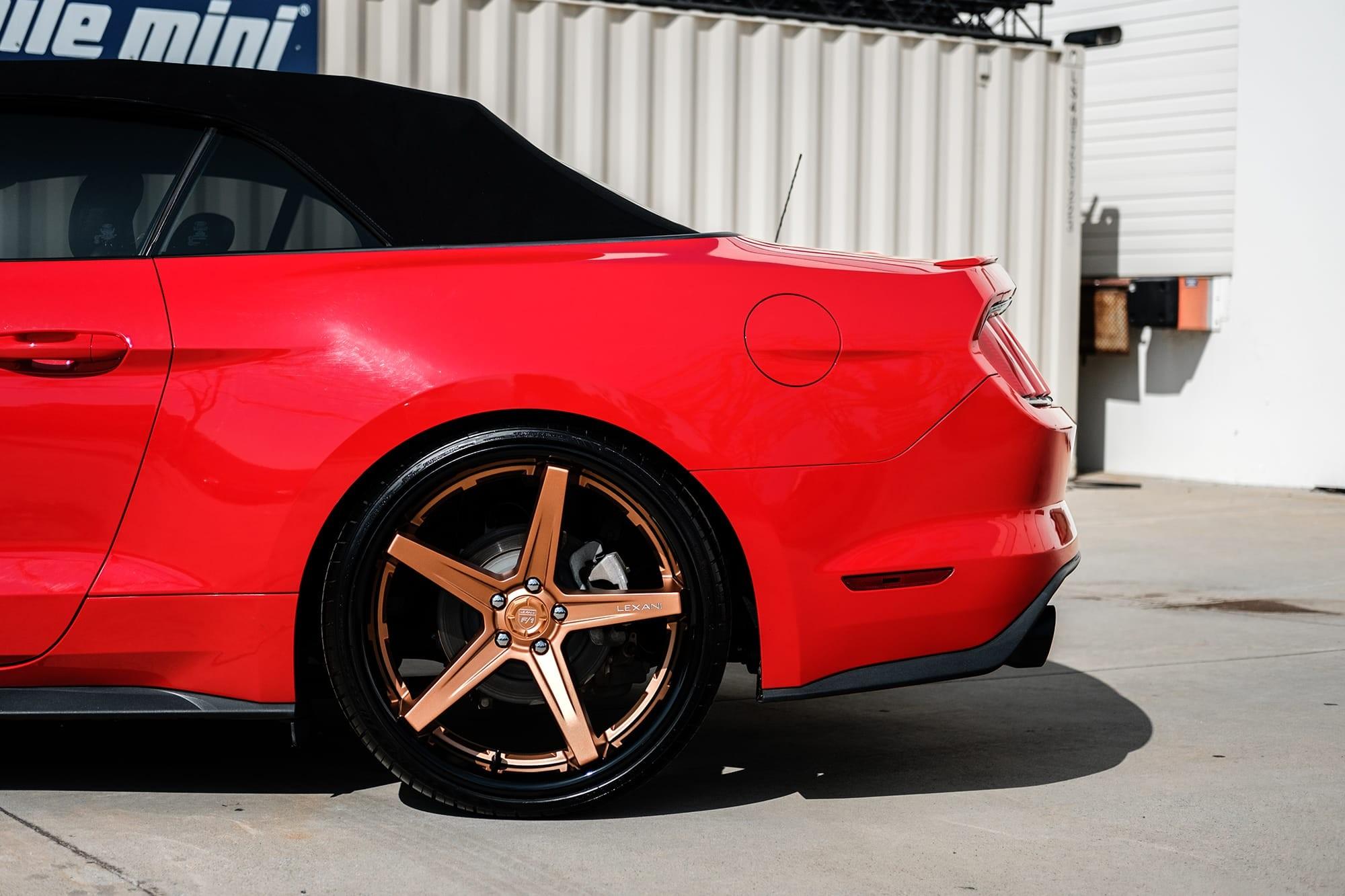 Ford Mustang on Lexani Savage wheels
