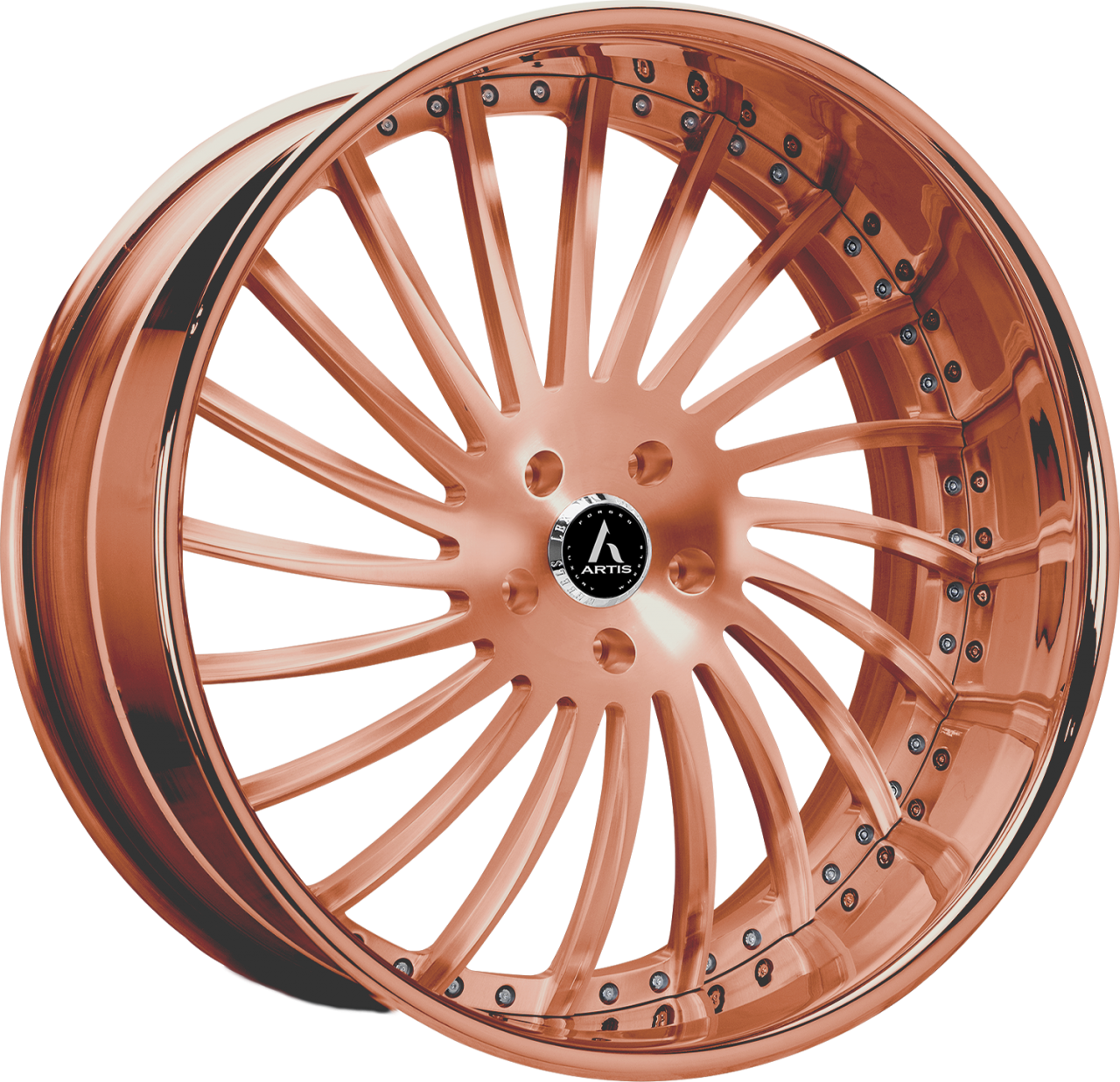 Artis Forged International wheel with Custom Rose Gold finish