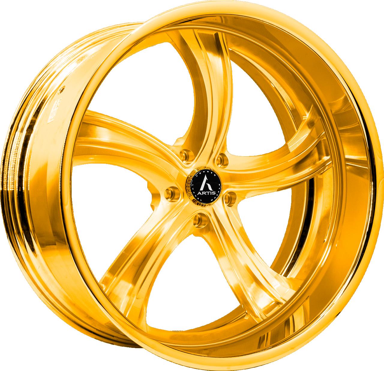 Artis Forged Kokomo-M wheel with Gold finish
