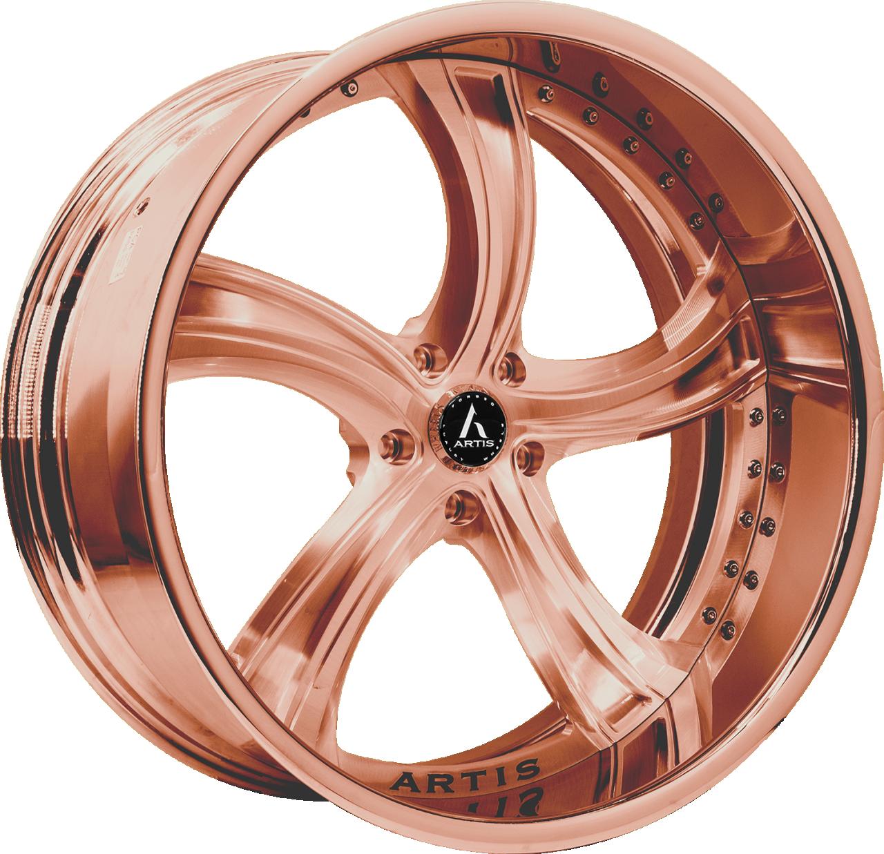 Artis Forged Kokomo wheel with Custom Rose Gold finish