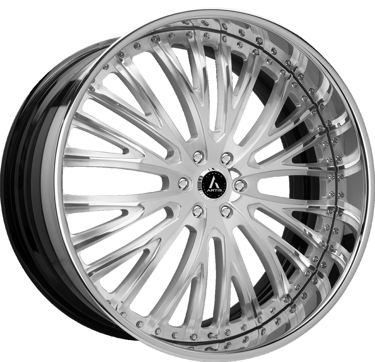 Artis Forged Woodward wheel with Brushed finish