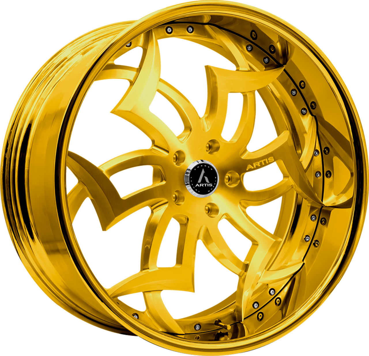 Artis Forged Medusa wheel with Custom Gold finish
