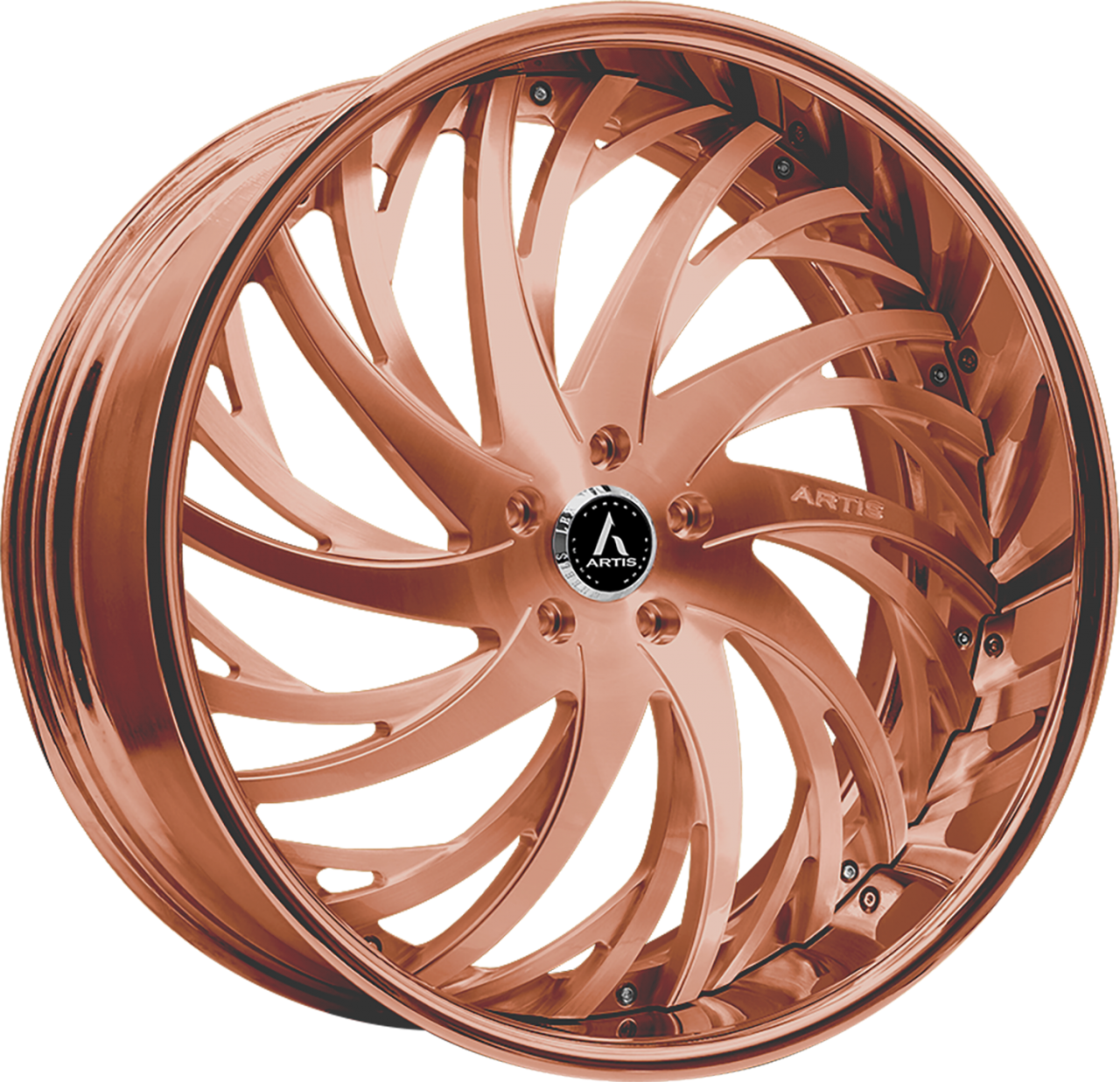 Artis Forged Decatur wheel with Custom Rose Gold finish