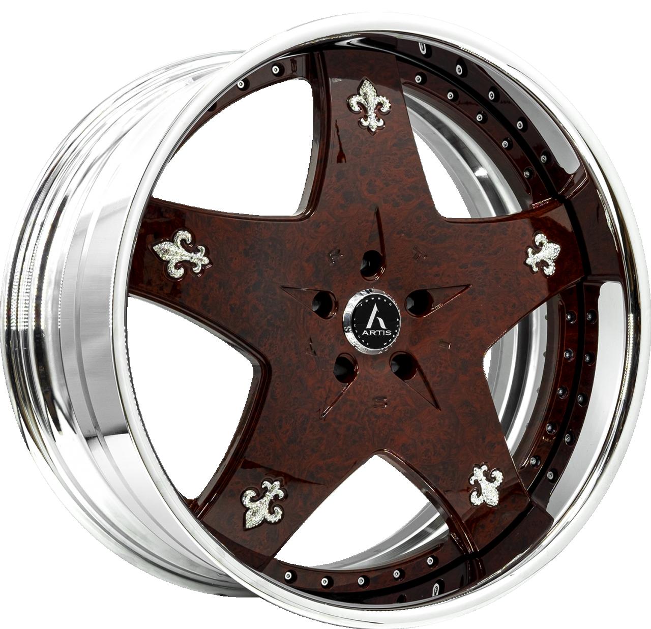 Artis Forged Cashville wheel with Burlwood finish
