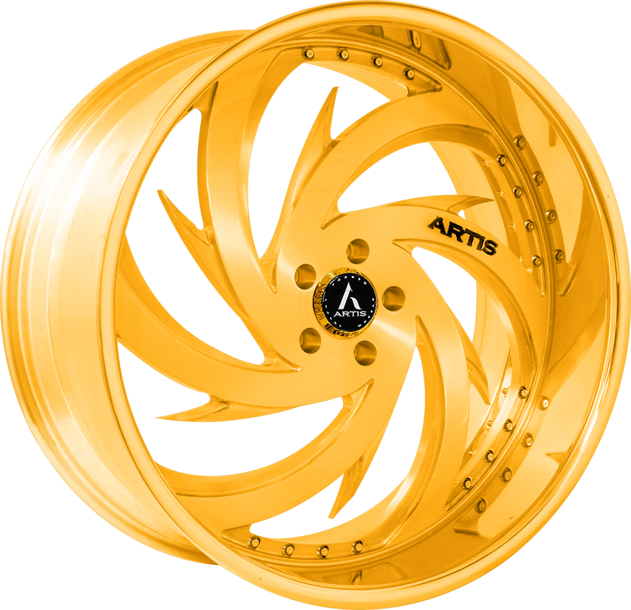 Artis Forged Spada-M wheel with Gold finish