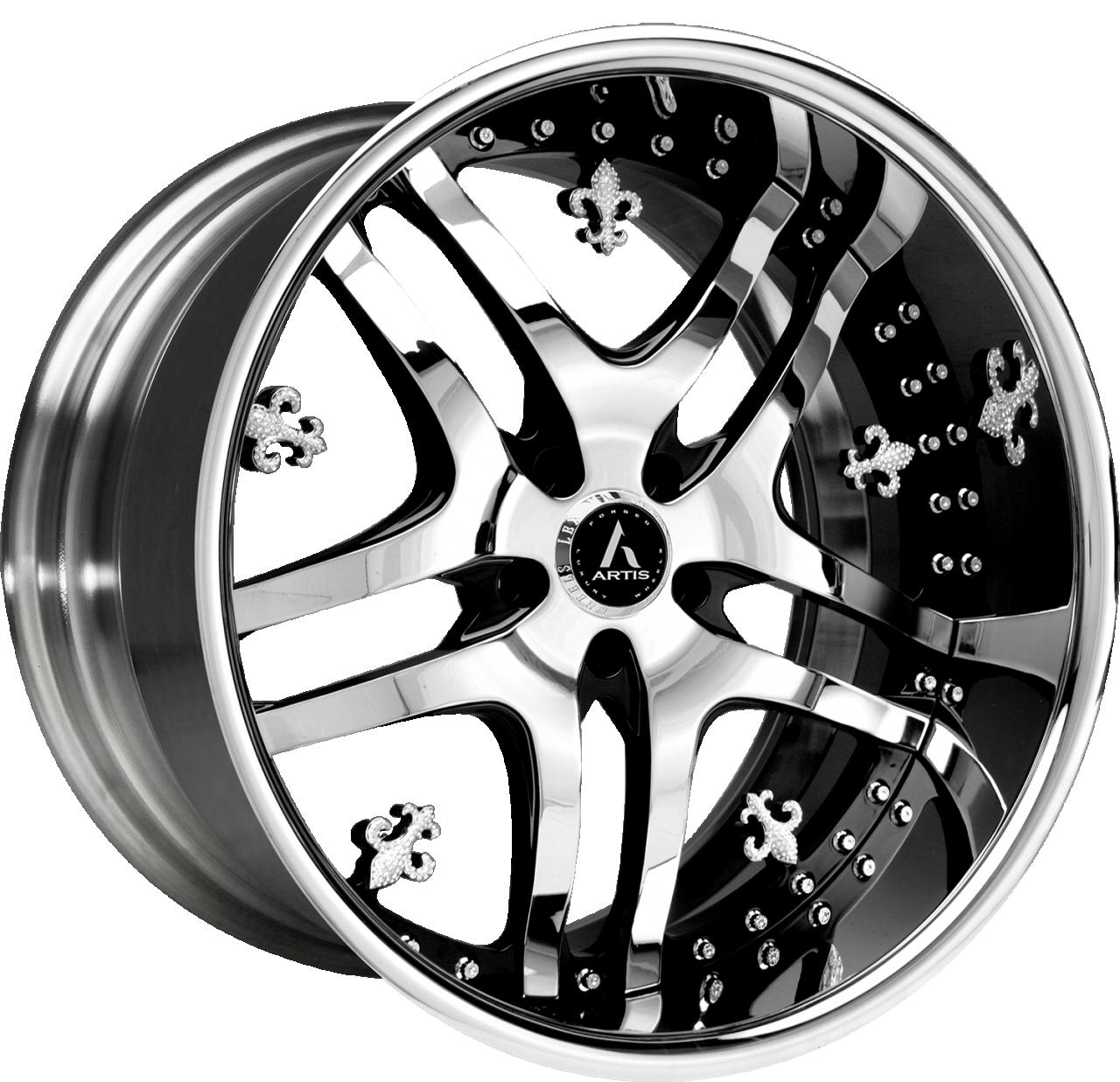 Artis Forged Biloxi wheel with Chrome and Black finish