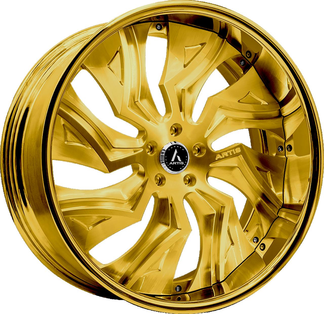 Artis Forged Buckeye wheel with Custom Gold finish