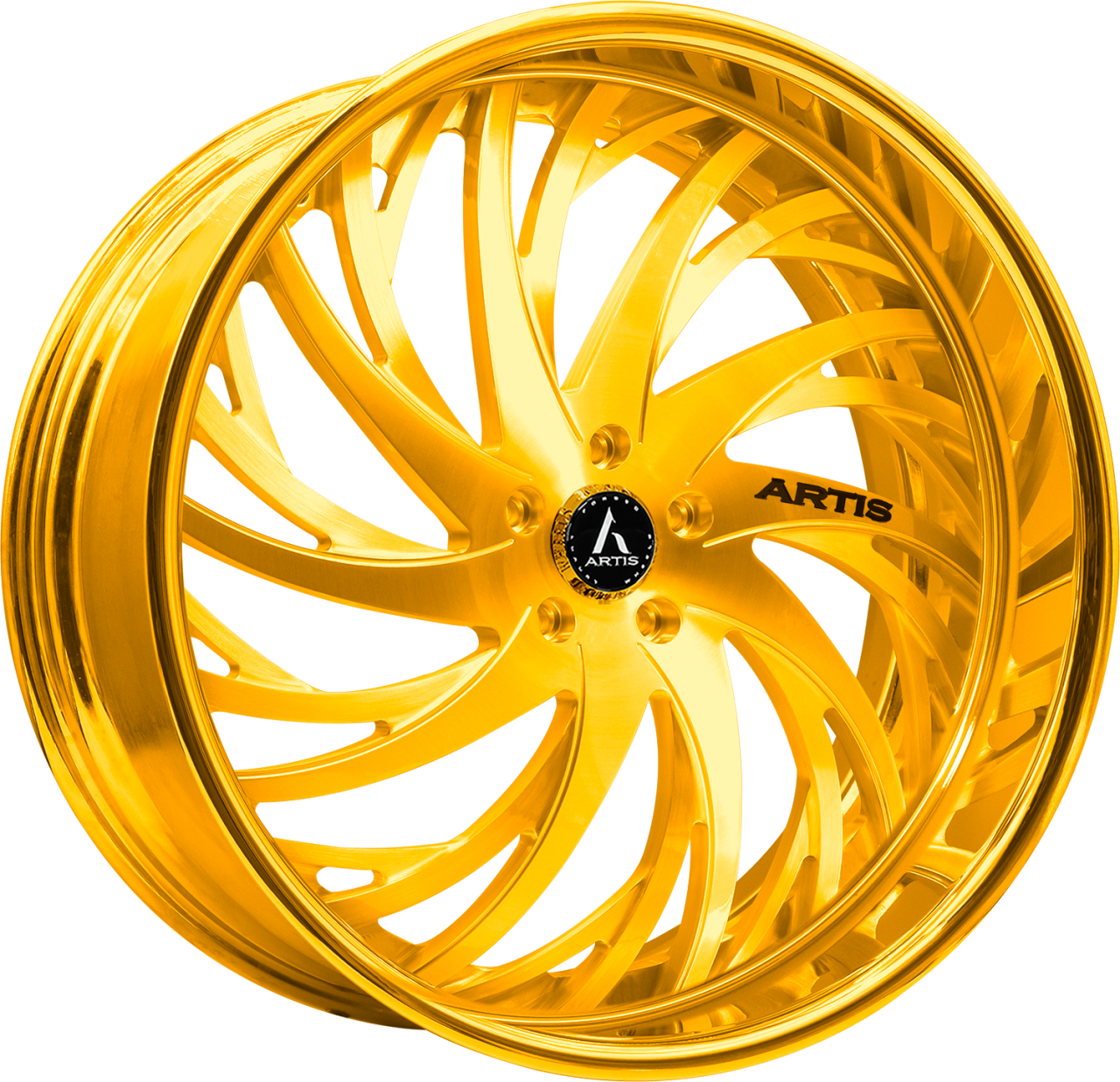 Artis Forged Decatur-M wheel with Gold finish