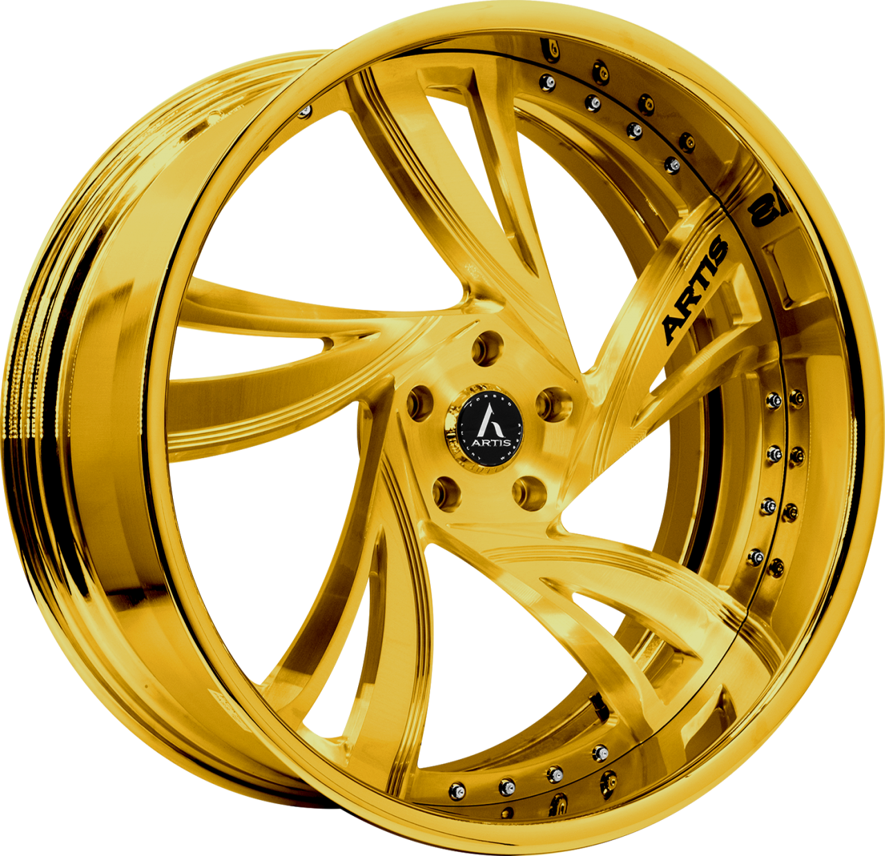 Artis Forged Kingston wheel with Custom Gold finish