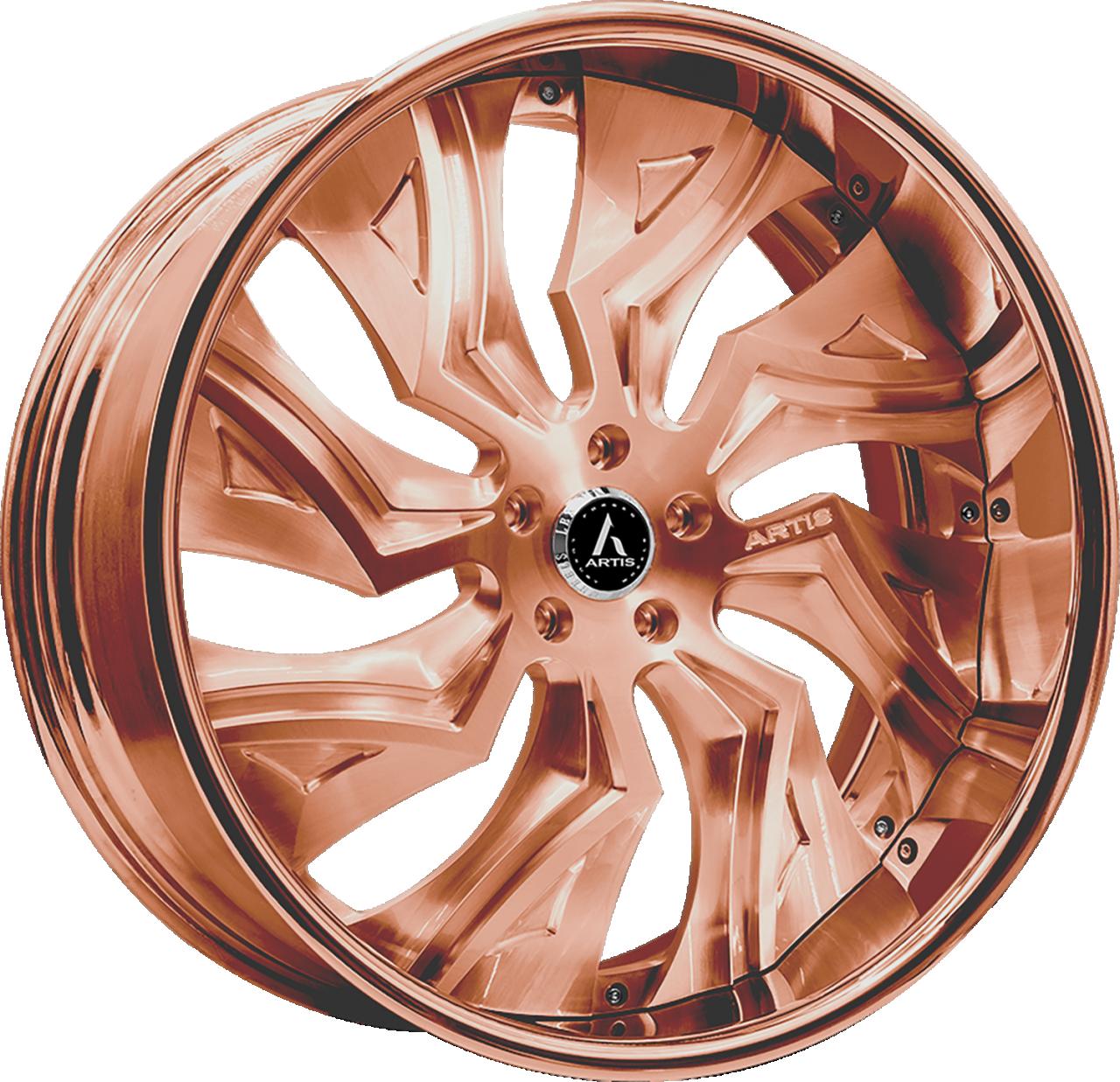 Artis Forged Buckeye wheel with Custom Rose Gold finish