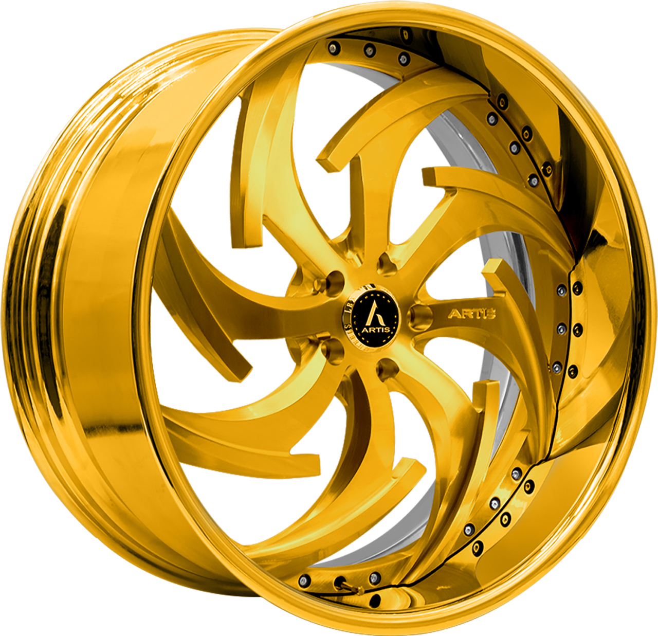 Artis Forged Dagger wheel with Gold Finish finish