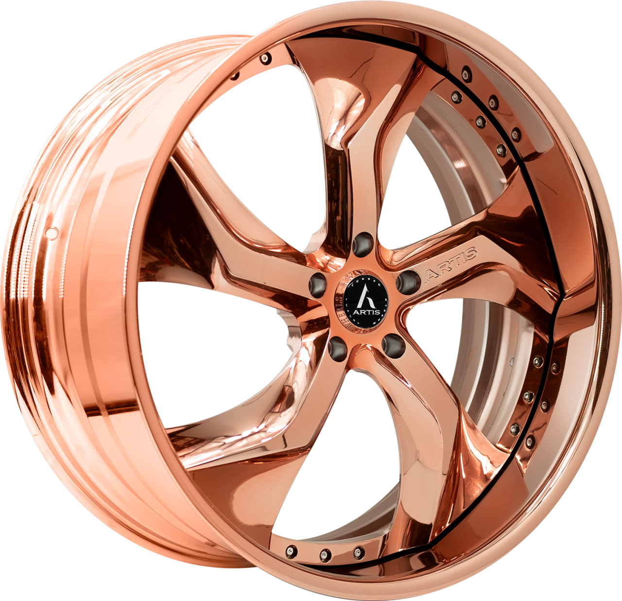 Artis Forged Bully wheel with Rose Gold finish