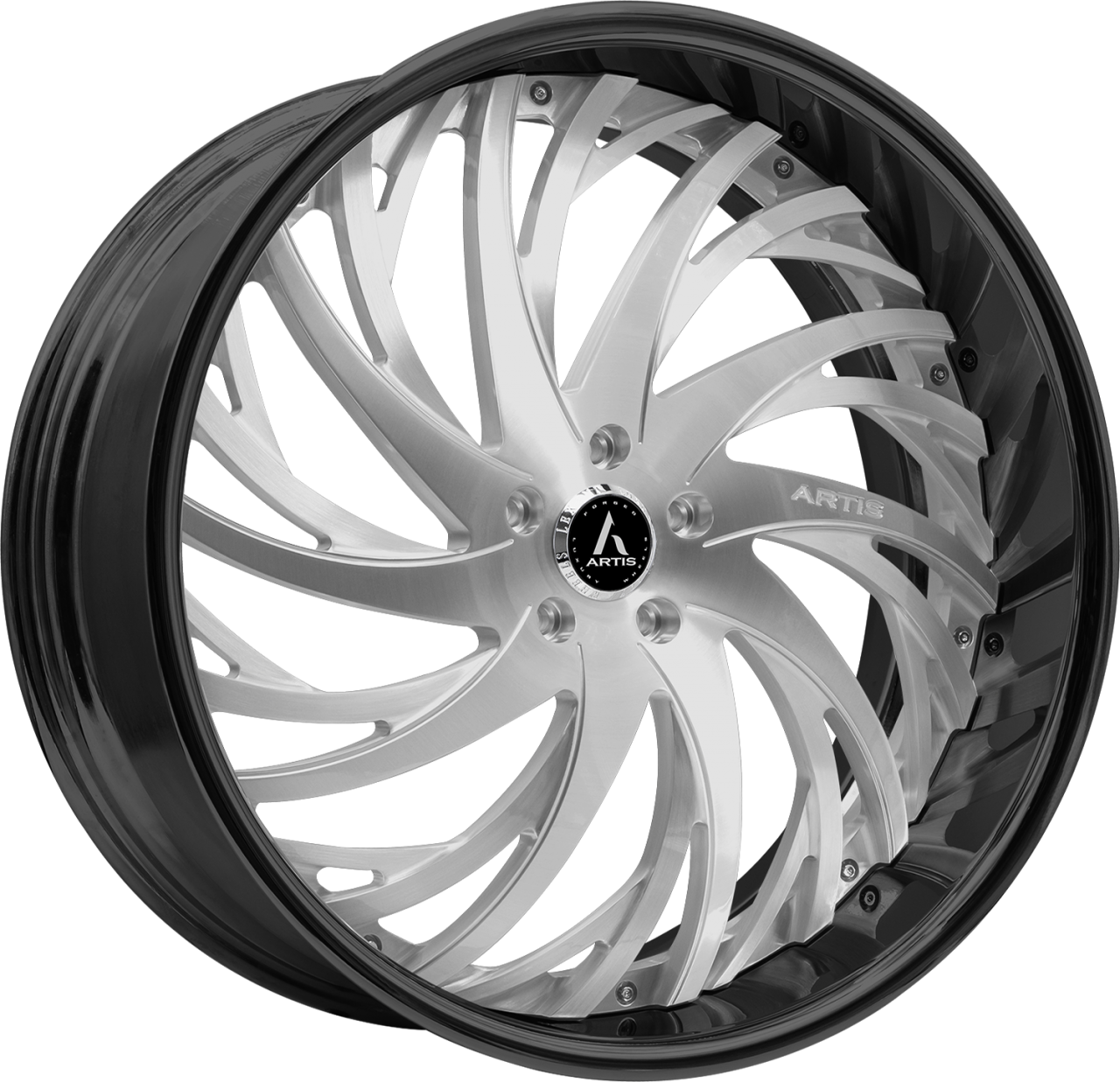 Artis Forged Decatur wheel with Brushed and Black finish