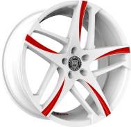 Custom - White with Red Accents